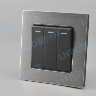 铝拉丝面板连排开关